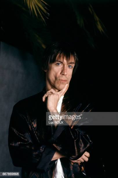 American singer and actor Iggy Pop attends the Cannes Film Festival for the presentation of the film Cry Baby, directed by John Waters, May 1990.