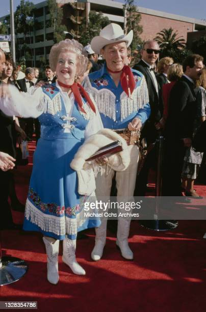 American singer and actor Roy Rogers and his wife Dale Evans attend the 61st Academy Awards at the Shrine Auditorium in Los Angeles, USA, 29th March...