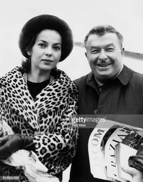 American singer and actress Abbe Lane and her husband bandleader Xavier Cugat arrive at London Airport UK 8th November 1962 Lane is due to appear on...