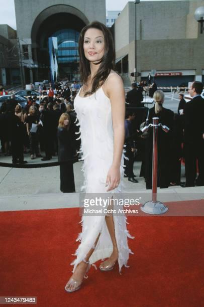 American singer and actress Apollonia Kotero attends the 2000 American Latino Media Arts Awards held at the Pasadena Civic Auditorium in Pasadena...