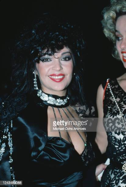 American singer and actress Apollonia Kotero attends the 27th Annual Grammy Awards held at the Shrine Auditorium in Los Angeles California 26th...