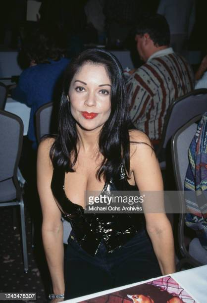 American singer and actress Apollonia Kotero attends the opening of Conga a restaurant in Los Angeles California 22nd February 1998