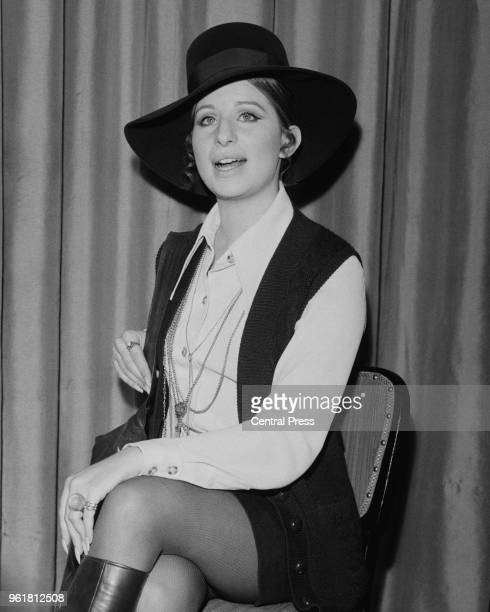 American singer and actress Barbra Streisand at a reception in her honour at the Dorchester Hotel in London 14th January 1969 She is in London for...
