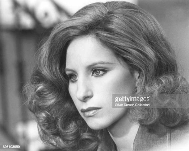 American singer and actress Barbra Streisand, circa 1975.