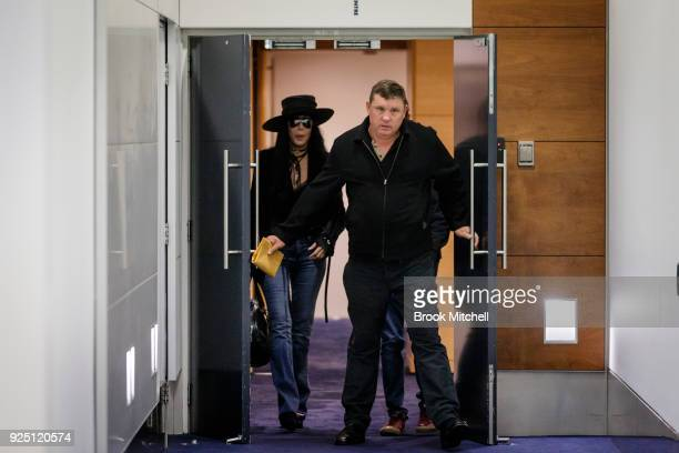 American singer and actress Cher arrives at the Sydney International Airport on February 28 2018 in Sydney Australia Cher is in Australia to headline...
