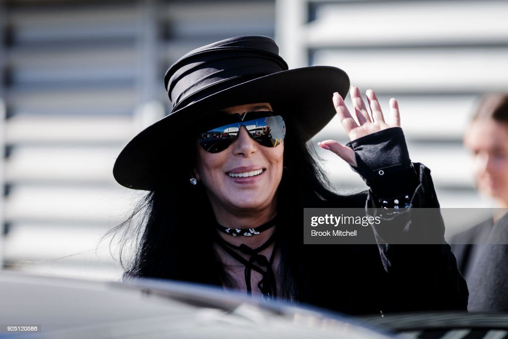 American singer and actress Cher arrives at the Sydney International Airport on February 28, 2018 in Sydney, Australia. Cher is in Australia to headline the 40th anniversary of the Sydney Gay and Lesbian Mardi Gras party.