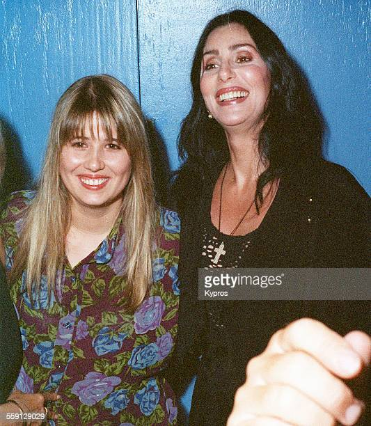 American singer and actress Cher with her daughter Chastity Bono later Chaz Bono 1992