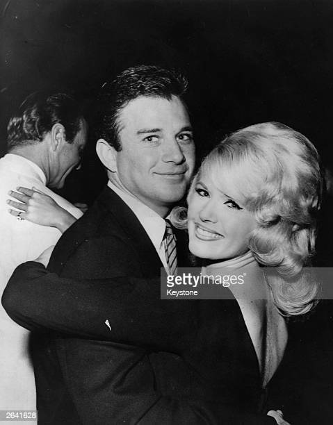American singer and actress Connie Stevens dancing with her husband to be James Stacy at the Cocoanut Grove Hollywood