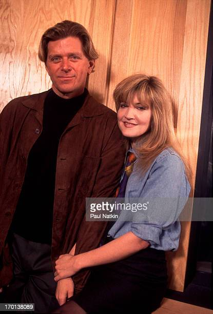 American singer and actress Crystal Bernard and singer Peter Cetera perform a duet at the River North Recording studio, Chicago, Illinois, April 10,...