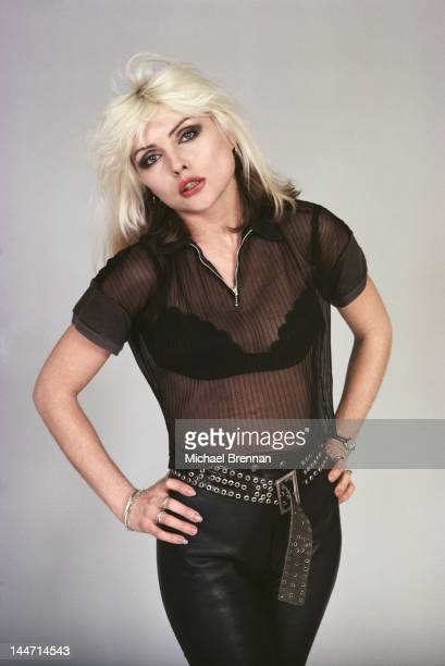 American singer and actress Debbie Harry of punk band Blondie in New York City February 1977
