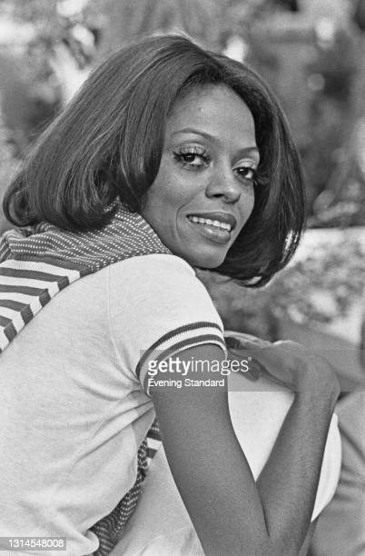 American singer and actress Diana Ross at the Inn On The Park in London, UK, to promote her new film 'Lady Sings the Blues', 14th September 1973. She...