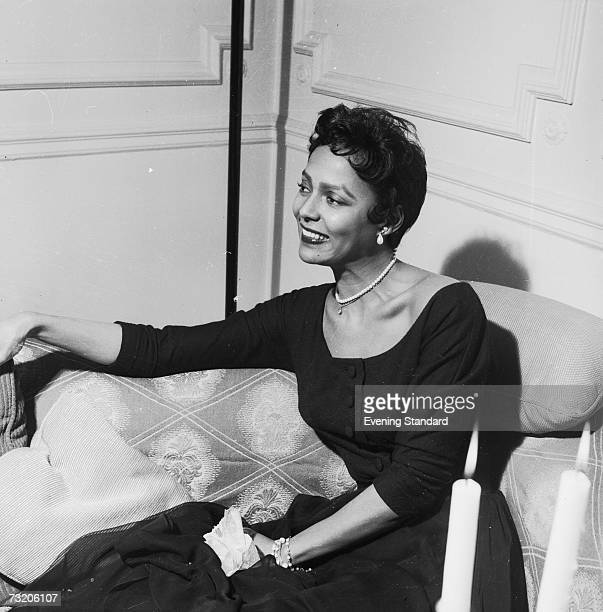 American singer and actress Dorothy Dandridge in London 25th April 1956