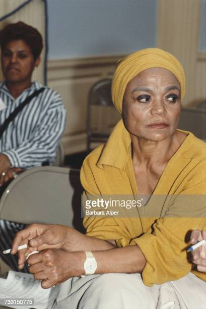 American singer and actress Eartha Kitt 21st October 1985