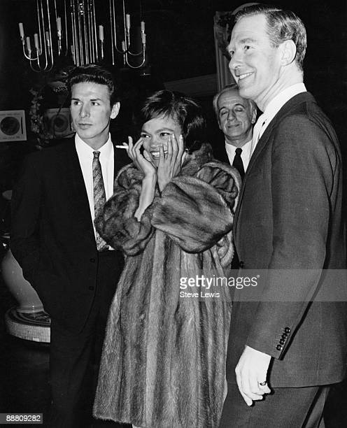 American singer and actress Eartha Kitt with her husband John William McDonald circa 1962