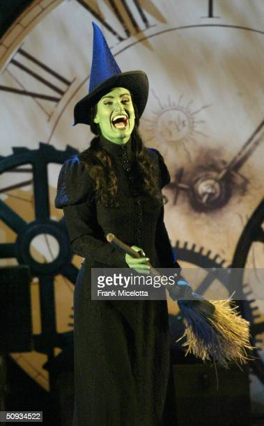 American singer and actress Idina Menzel of 'Wicked' performs on stage during the '58th Annual Tony Awards' at Radio City Music Hall on June 6 2004...