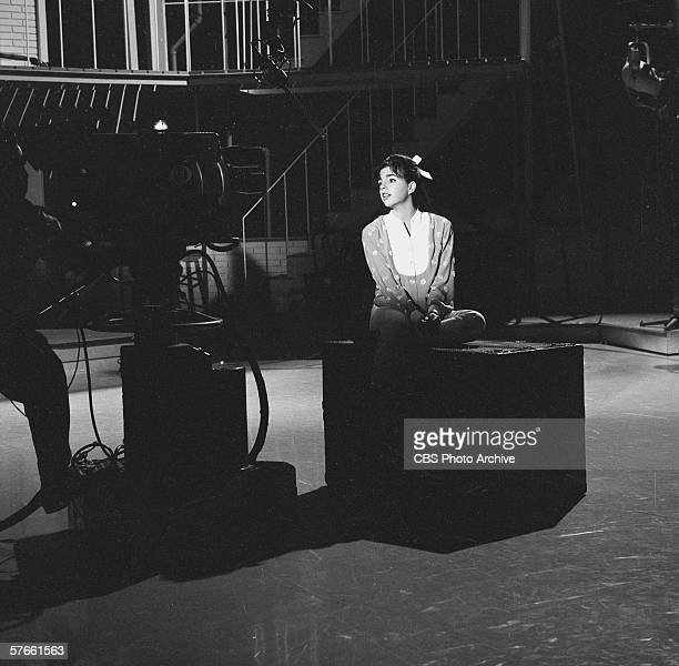 American singer and actress Liza Minnelli rehearses on the set of her mother's musical variety series 'The Judy Garland Show' July 15 1963