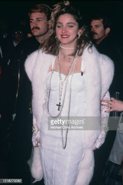 American singer and actress Madonna at the premiere of the film 'Desperately Seeking Susan', USA, 29th March 1985.