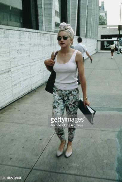 American singer and actress Madonna, circa 1986.