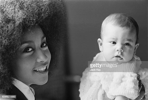 American singer and actress Marsha Hunt with her baby Karis 23rd March 1971 Karis is the daughter of singer Mick Jagger