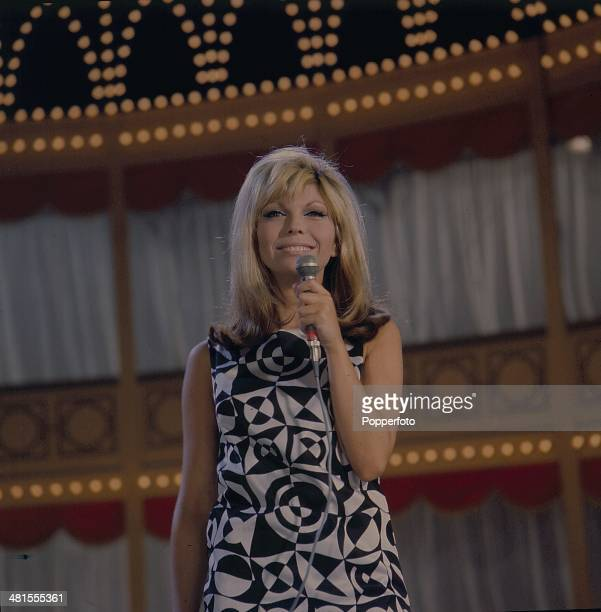 1968 American singer and actress Nancy Sinatra performs on the 'Hippodrome Show' on television in 1968