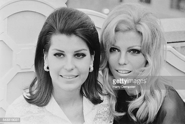 American singer and actress Nancy Sinatra with her sister Tina Sinatra 8th May 1967