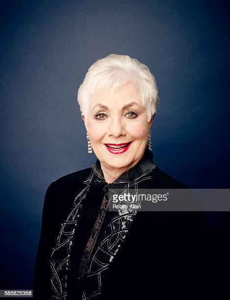 American singer and actress of stage film and television Shirley Jones is photographed at the Hallmark Channel Summer 2016 TCA's on July 27 2016 in...