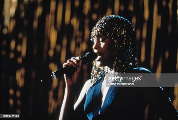 American singer and actress Whitney Houston stars in the film 'The Bodyguard' 1992