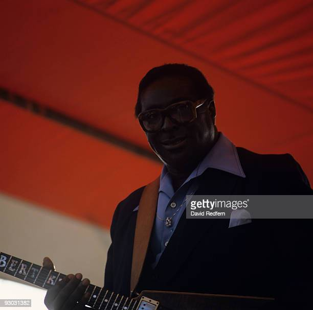 Albert King performs on stage at the New Orleans Jazz and Heritage Festival in New Orleans Louisiana on May 04 1985