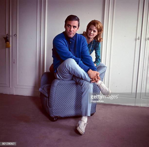 American singer and composer Burt Bacharach posed with his wife actress Angie Dickinson in London in 1966.