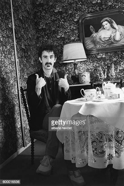American singer and composer Frank Zappa in Paris.