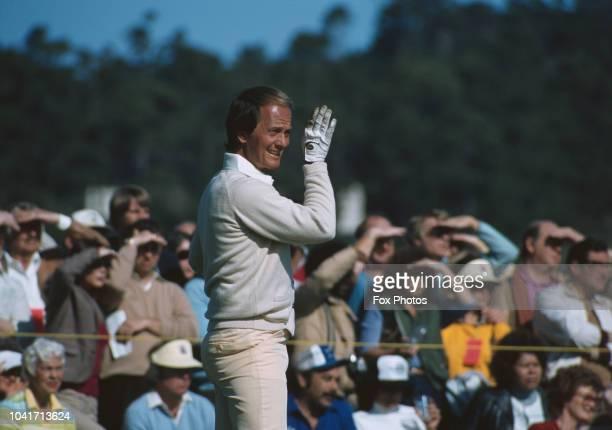 American singer and composer Pat Boone at the Bob Hope Classic Golf Tournament at Pebble Beach, California, USA, circa 1975.