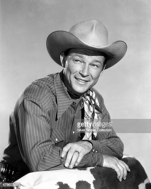 American singer and cowboy actor Roy Rogers circa 1950