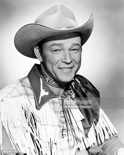 American singer and cowboy actor Roy Rogers circa 1955