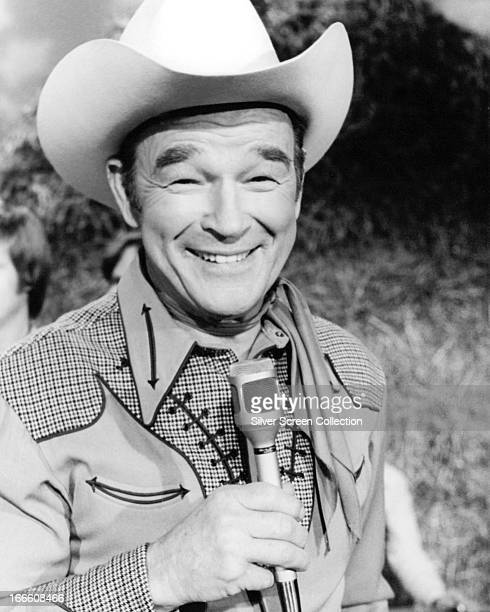 American singer and cowboy actor Roy Rogers circa 1960