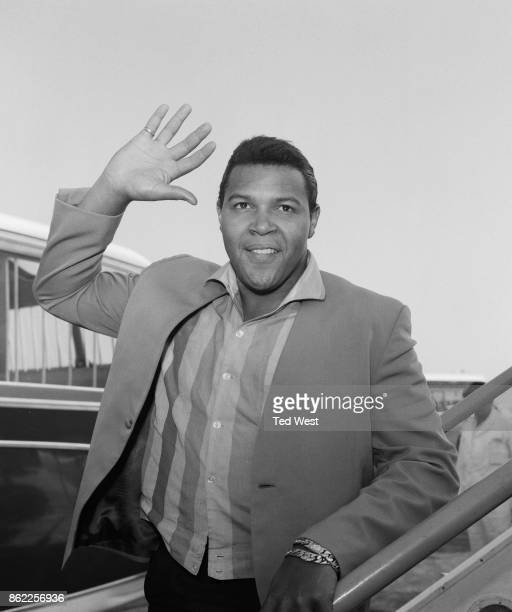American singer and dancer Chubby Checker arrives at London Airport for a 15day tour of the UK 31st August 1962