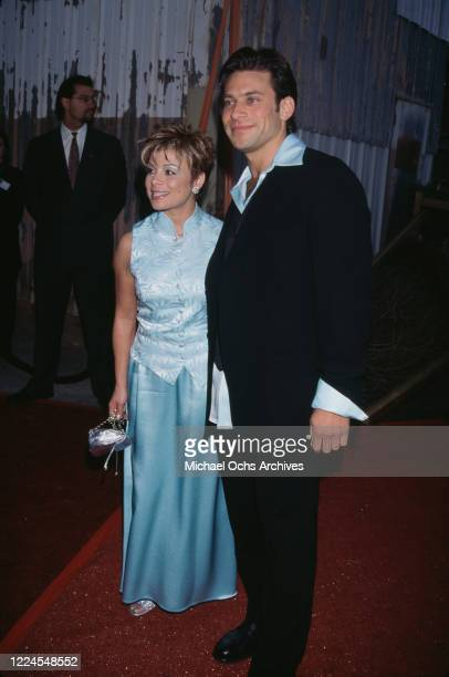 American singer and dancer Paula Abdul and American fashion designer Brad Beckerman attend the California Fashion Industry Friends of AIDS Project...