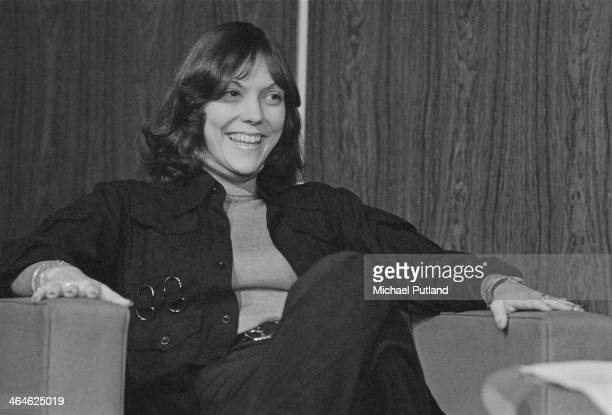 American singer and drummer Karen Carpenter of pop duo The Carpenters Frankfurt West Germany 16th February 1974