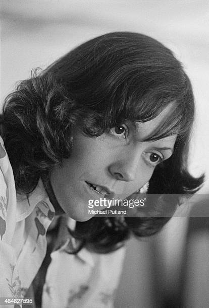 American singer and drummer Karen Carpenter of pop duo The Carpenters during a European tour February 1974