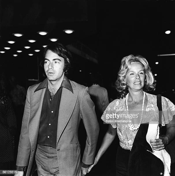 American singer and entertainer Neil Diamond and his second wife television producer Marcia Murphey attend Bruce Springsteen's debut at the Roxy...