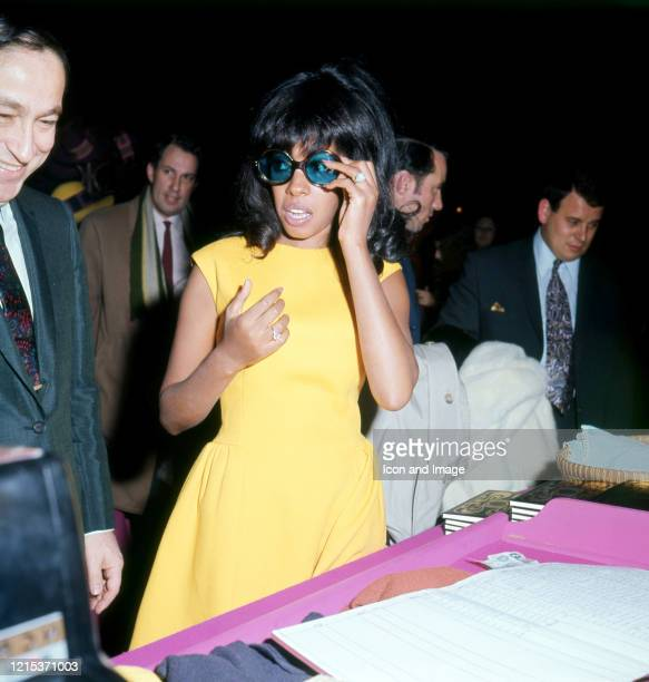 American singer and founding member of Motown's premier act, The Supremes, Mary Wilson in London, England, March 18, 1965.
