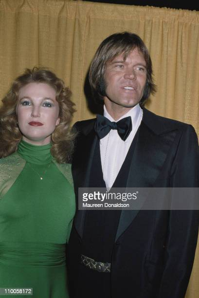 American singer and guitarist Glen Campbell with country music singer Tanya Tucker 1978