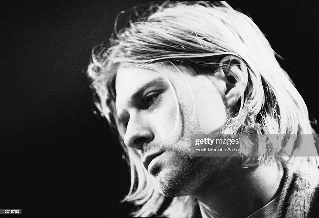 American singer and guitarist Kurt Cobain (1967 - 1994), performs with his group Nirvana at a taping of the television program 'MTV Unplugged,' New York, New York, Novemeber 18, 1993.