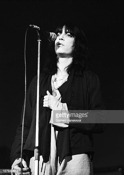 American singer and guitarist Patti Smith performs live at The Paradiso in Amsterdam Netherlands on 9th October 1976
