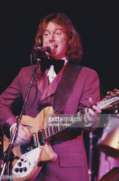 American singer and guitarist Roger McGuinn of the Byrds performs live playing a Rickenbacker guitar on stage USA 10th March 1977