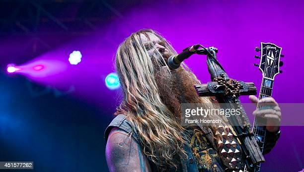 American singer and guitarist Zakk Wylde of Black Label Society performs live during a concert at the Huxleys on July 1, 2014 in Berlin, Germany.