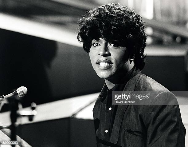 American singer and musician Little Richard seated at a piano on a television show in London circa 1966.