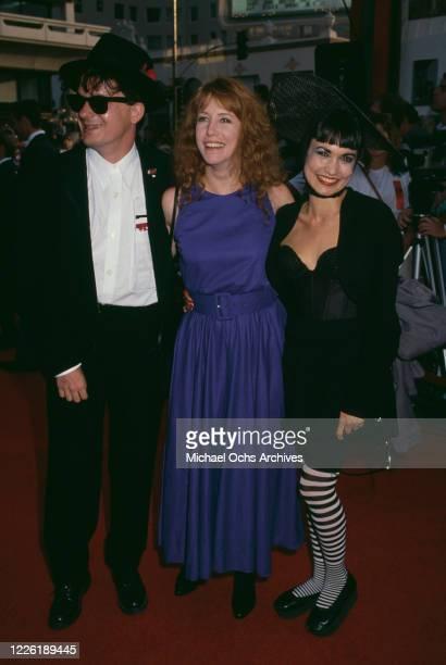 American singer and musician Mark Mothersbaugh, American actress Laraine Newman, and American actress Nancye Ferguson, Mothersbaugh's wife, attend...