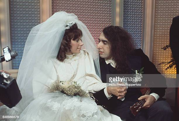 American singer and musician Tiny Tim marries Victoria Budinger on the television show 'The Tonight Show Starring Johnny Carson' in the United States...