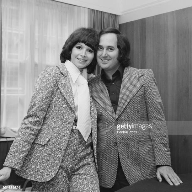 American singer and pianist Neil Sedaka with his wife Leba at a press conference in London 18th May 1972