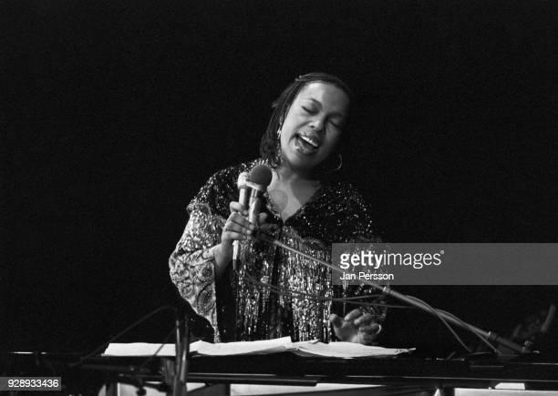 American singer and pianist Roberta Flack performing in Copenhagen Denmark 1976